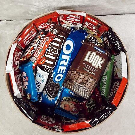 Caixa Redondamente Doce com Muito Chocolate  Cod CA 004