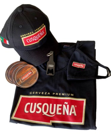 Kit Acessórios Cusqueña com Camiseta Babylook