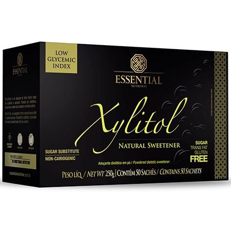 XYLITOL (50 SACHÊS DE 5G) ESSENTIAL NUTRITION