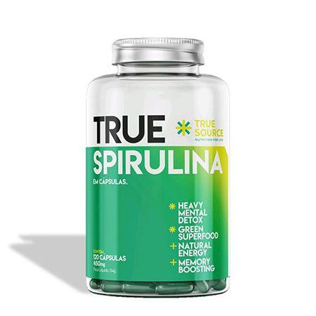 SPIRULINA 500MG - 120 CÁPSULAS - TRUE SOURCE
