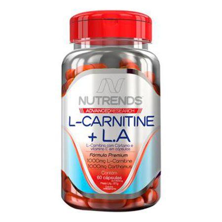 L-CARNITINE + LA NUTRENDS 1450MG COM 60 CAPSULAS