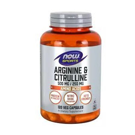 L-ARGININA & CITRULINA (500mg / 250mg) - 120 cap now foods