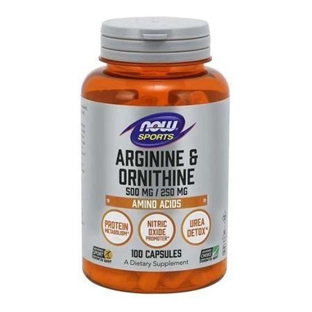 L-ARGININA & ORNITINA (500mg / 250mg) - 100 cap  now foods