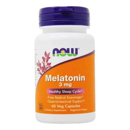 Melatonina 3 mg (60 Cápsulas) – NOW Foods