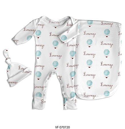 Estampa balão personalizada com o nome do bebê