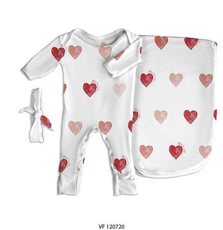 Estampa coração personalizada com o nome do bebê