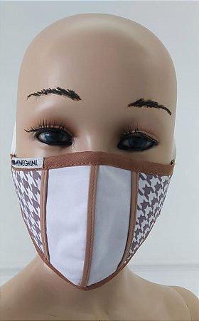 Máscara Feminina de Tecido reutilizável Lavável