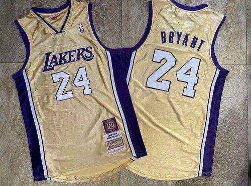 Camisa de Basquete Los Angeles Lakers Especial Hall da Fama Hardwood Classics M&N - 24 Kobe Bryant
