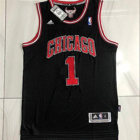 Camisa de Basquete Chicago Bulls authentic retrô - 1 Derrick Rose