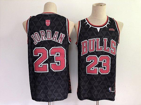 "Camisa de Basquete Especial Pantera Negra ""Wakanda Forever"" - Michael Jordan"