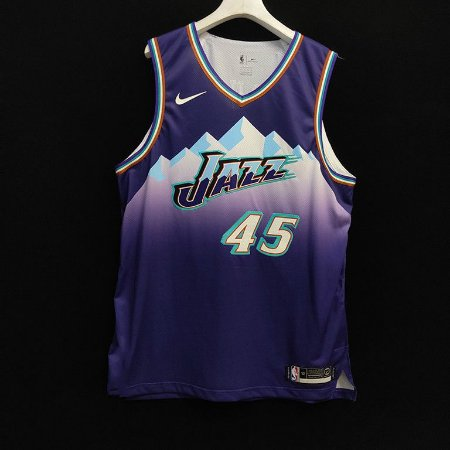 Camisa de Basquete Utah Jazz vintage edition versão Authentic Jogador - 45 Mitchell