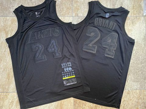 Camisa de Basquete Los Angeles Lakers MVP Black Authentic Edition - 23 James, 24 Bryant