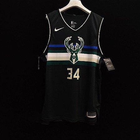 Camisa de Basquete Milwaukee Bucks versão jogador