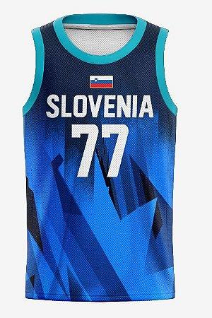 Camisa de Basquete Seleção da Eslovênia Olimpíadas 2020 / 21 - Luka Doncic 77