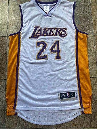 Camisa de Basquete Los Angeles Lakers retrô Adidas Bordado Denso - 24 Kobe Bryant