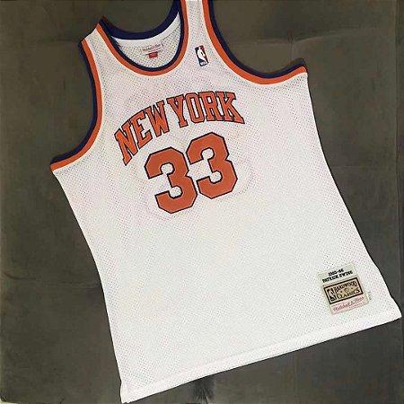 Camisa de Basquete New York Knicks 1985/86 Hardwood Classics M&N - 33 Patrick Ewing