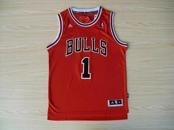 Camisas de Basquete Retrô Chicago Bulls - 1 Derrick Rose
