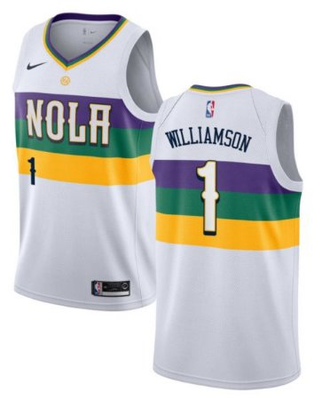 Camisas New Orleans Pelicans - City Edition - 1 Zion Williamson, 2 Lonzo Ball