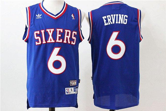 Camisas Retrô Philadelphia 76ers - 6 Julius Erving (Dr. J.)