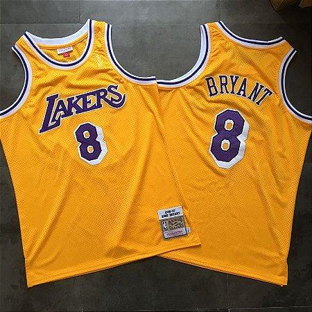 Camisa  Los Angeles Lakers Hardwood Classics Authentic - 8 Kobe Bryant