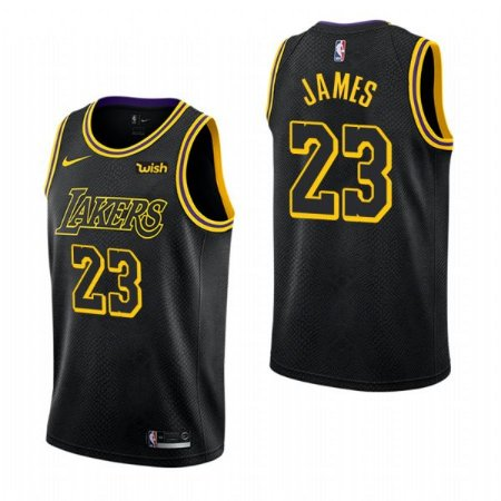 Camisa de Basquete Black Mamba Edition Los Angeles Lakers - 23 LeBron James, 24 Kobe Bryant