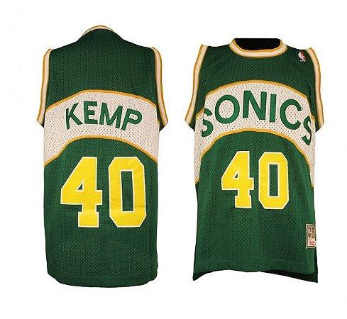 Camisas Retrô Seatle Supersonics - 20 Gary Payton, 40 Shawn Kemp