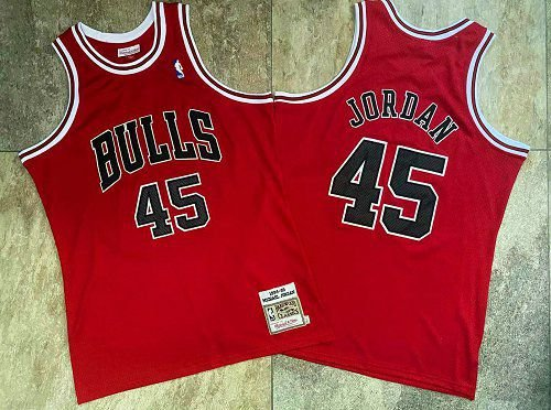 Camisas de Basquete Chicago Bulls Hardwood Classics M&N - 45 Michael Jordan