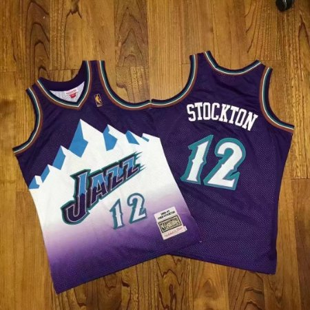 Camisas de Basquete Utah Jazz Hardwood Classics M&N - 32 Karl Malone, 12 John Stockton