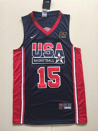 Camisas de Basquete Dream Team Olimpíadas 1992 - 9 Michael Jordan, 15 Magic Johnson, 7 Larry Bird, 10 Clyde Drexler