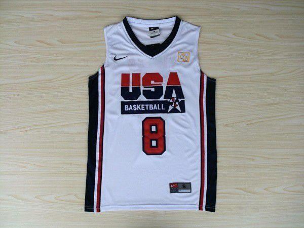 Camisas Dream Team Olimpíadas 1992 - 14 Charles Barkley, 6 Patrick Ewing, 8 Scottie Pippen