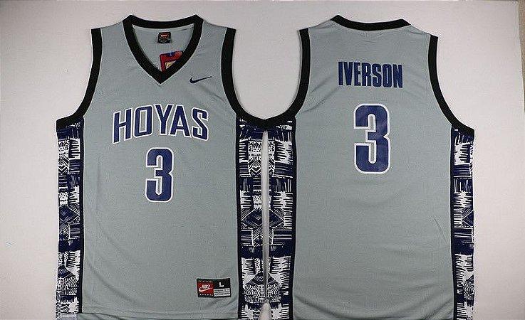 Camisas Georgetown -  3 Allen Iverson