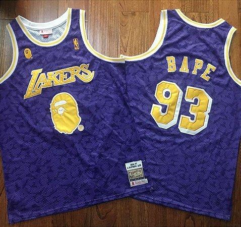 Camisas Los Angeles Lakers Especiais Bape Edition