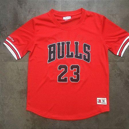 Camisas Chicago Bulls authentic Classics M&N, com mangas - Michael Jordan 23