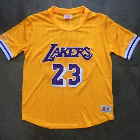 Camisas Los Angeles Lakers, Authentic Classics M&N, com mangas - LeBron James 23