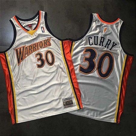 Camisas de Basquete Golden State Warriors 2009/10 Hardwood Classics M&N - Stephen Curry 30
