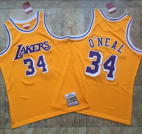 Camisa de Basquete Los Angeles Lakers Authentic Classics M&N - Shaquille O'Neal 34, Rodman 73