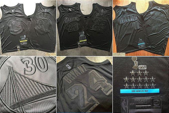 Camisa MVP Black Authentic Edition - 23 James, 41 Nowitzki, 30 Curry, 24 Bryant