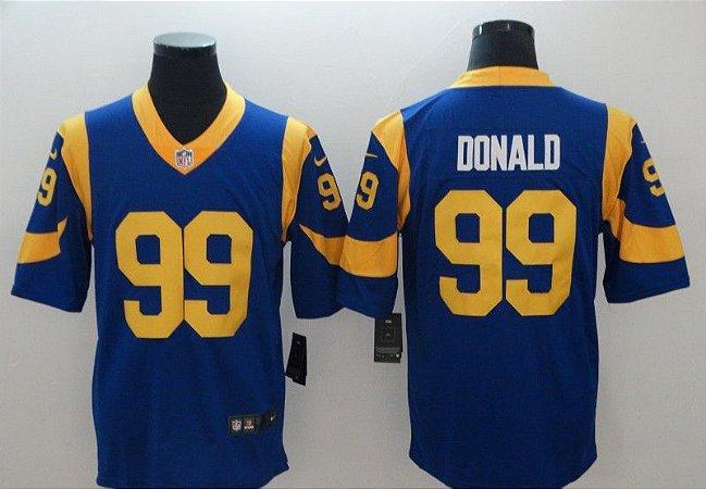 Camisas Los Angeles Rams - 16 Goff, 99 Donald