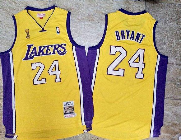 Camisas Los Angeles Lakers Retro Especial Finals 08/09 - 24 Kobe Bryant