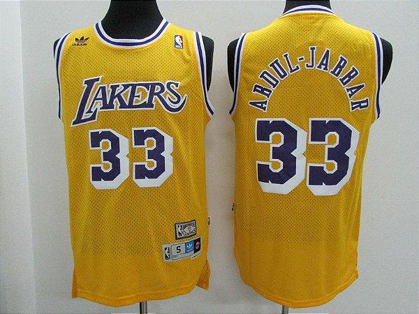 Camisas de Basquete Los Angeles Lakers retrô - 32 Magic Johnson, 33 Abdul-Jabbar, 13 Chamberlain