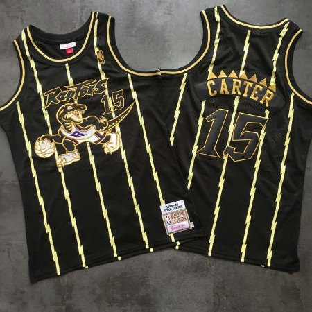 Camisa Especial Toronto Raptors Black'N'Gold Hardwood Classics M&N - 15 Vince Carter, 1 McGrady