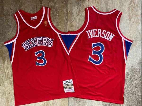 Camisa Philadelfia 76ers Hardwood  Classics M&N - 3 Allen Iverson