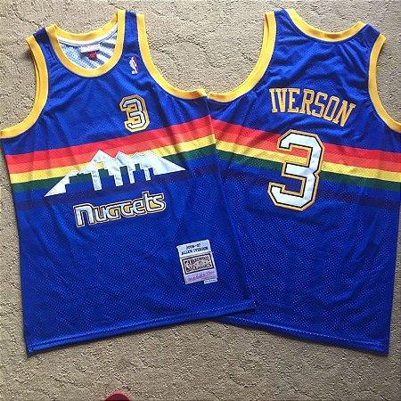 Camisas Denver Nuggets Hardwood Classics M&N - 3 Allen Iverson