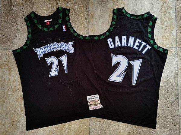 Camisa de Basquete Minnesota Timberwolves Hardwood Classics M&N - 21 Kevin Garnett