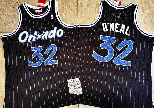 Camisas de Basquete Orlando Magic Hardwood Classics M&N - 32 Shaquille O'Neal, 1 Hardaway