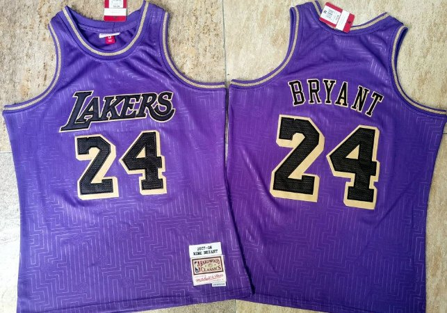 Camisa Los Angeles Lakers Especial M&N - 24 Kobe Bryant
