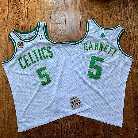 Camisa Boston Celtics World Champion 2008 Hardwood Classics M&N - 5 Kevin Garnett, 20 Ray Allen