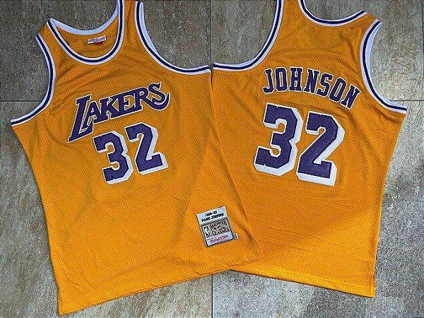Camisas de Basquete Los Angeles Lakers Hardwood Classics M&N - 32 Magic Johnson