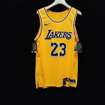 Camisa de Basquete Los Angeles Lakers versão Jogador - Lebron James 23