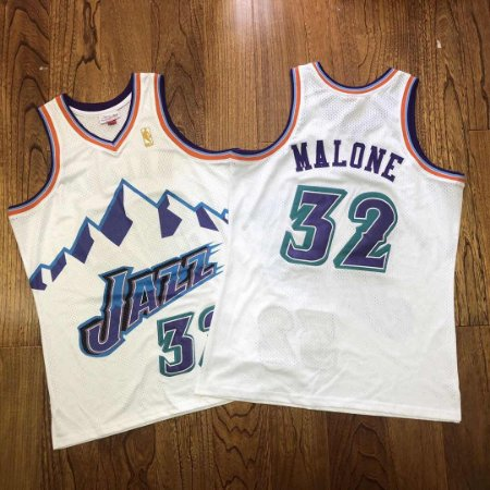 Camisas de Basquete Retrô Utah Jazz Hardwood Classics M&N - 32 Karl Malone, 12 John Stockton